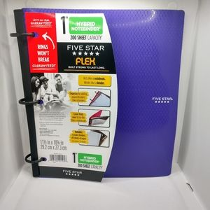"Five Star Flex 1"" Hybrid Notebinder in Purple New"